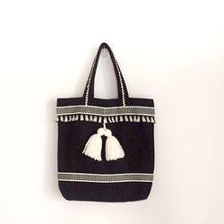 tassel bag black (토트)