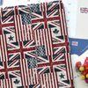 린넨 원단 : 퓨전 영국미국 국기 (레드)