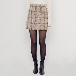 [로코식스] mood tweed mini SK스커트