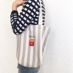 stripe frenchfries bag