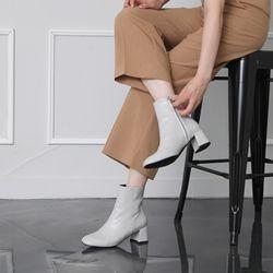 [쿠루] 여성 5cm 베이직 지퍼 디테일 앵클부츠 G6210