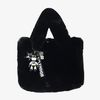 Artifical Fur Bag & 배트맨 charm (black)