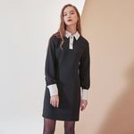 TWO BUTTON BLACK ONEPIECE