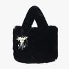 Artifical Fur Bag & 잭 charm (black)