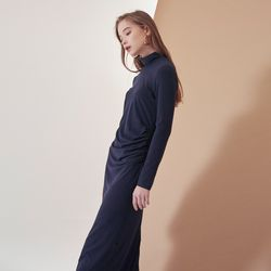 SHIRRING POINT LONG ONEPIECE(NA)