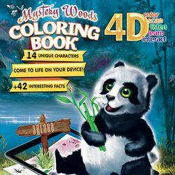 4D 신비의 숲 AR 컬러링북