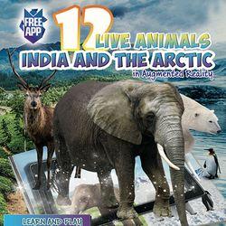 4D 인도와 북극의 동물 AR 컬러링북