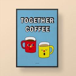 인테리어 디자인 포스터 M 투게더 커피 A2(대형)