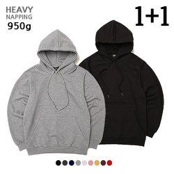 [1+1] [ 950g ] 헤비 기모 오버핏 후디