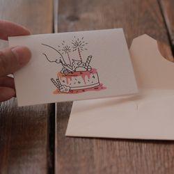 [미니 일러스트 카드]  congratulations 축하 카드
