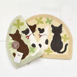 고양이 핸드메이드 반달매트