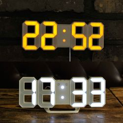 무아스 듀얼컬러 미니 LED 클락 (오렌지&화이트)