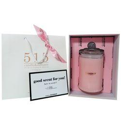 515샵 아로마 소이왁스 라지자 핑크 돔캔들