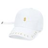 STIGMA DOLLAR BASEBALL CAP WHITE