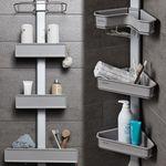 맥맨 시스템 욕실 선반 1EA (평면형 코너형)