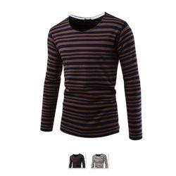 남성 라운드 스트라이프 긴팔 티셔츠 RDLT68