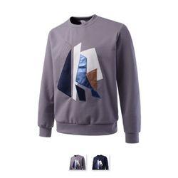 남성 조각 패치 자수 맨투맨 티셔츠 DMLS22