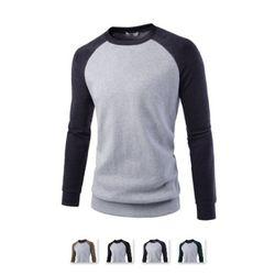 남성 라운드 나그랑 긴팔 맨투맨 티셔츠 CAL70