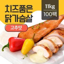 치품닭 치즈품은 훈제 닭가슴살 고추맛 110gX100팩