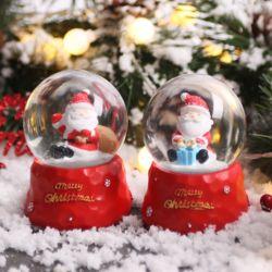 크리스마스 워터볼 스노우볼 6.5cm (산타)