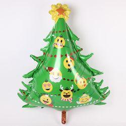 크리스마스 은박풍선 슈퍼쉐입- 이모티콘트리