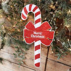 메리크리스마스 반짝이 지팡이데코