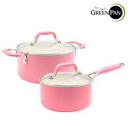 그린팬 요크 핑크 냄비2종편수16cm+양수20cm