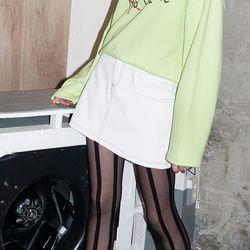 NO Fake Leather Mini Skirt (WHITE)