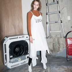 Suede Bustier DRESS (WHITE)