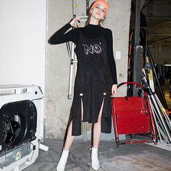 Suede Bustier DRESS (BLACK)