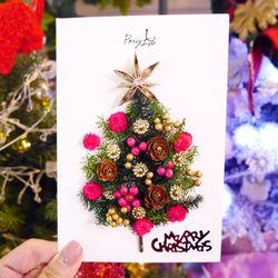 크리스마스 드라이플라워 카드 NO.27크리스마스의별