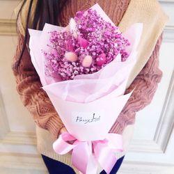 드라이플라워꽃다발 라그라스 안개 꽃다발 (썸탈꺼야)