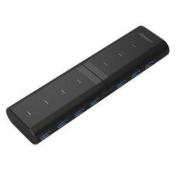 위즈플랫 USB3.0 180도 회전 7포트 허브 WIZ-H72