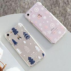 [TryCozy]겨울패턴 투명 젤리 케이스.LG G6(LGM600)