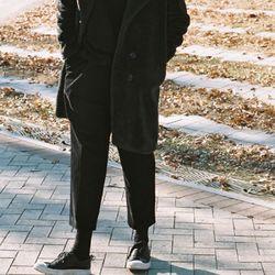 HEAVY CORDUROY PANTS BLACK (MEN)