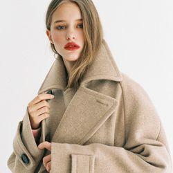 [Italian wool] A-LINE HALF COAT BEIGE