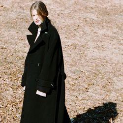 DOUBLE WOOL LONG COAT BLACK