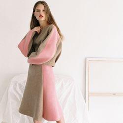 [Italian wool] MERMAID SKIRT BEIGE