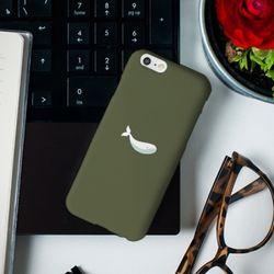 [아이폰6] 하얀 고래 카키 H3048A 하드 케이스