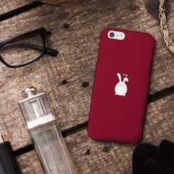 [아이폰6] 러블리 토끼 딥레드 H3002E 하드케이스
