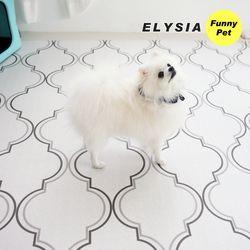 엘리시아 강아지매트 애견매트 블루밍 L