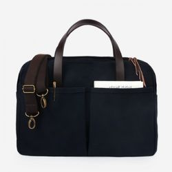 Vintage Brief Bag Super Oxford Navy