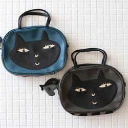 라무리즈 고양이 얼굴 토트 크로스백