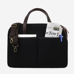 Vintage Brief Bag Super Oxford Black