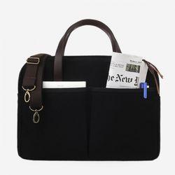 Vintage Brief Bag Super Oxford Black