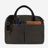 Vintage Brief Bag Wax Canvas Charcoal