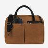 Vintage Brief Bag Wax Canvas Camel