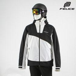 [펠리체] 아론 스키보드복 자켓 화이트 블랙 남여공용