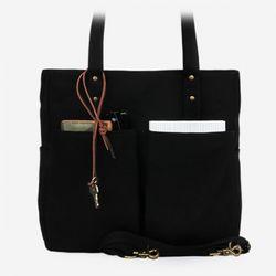 6 Pocket 3 Way Bag - Super Oxford Black