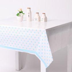 라인도트 비닐 테이블보 - 블루(1매)